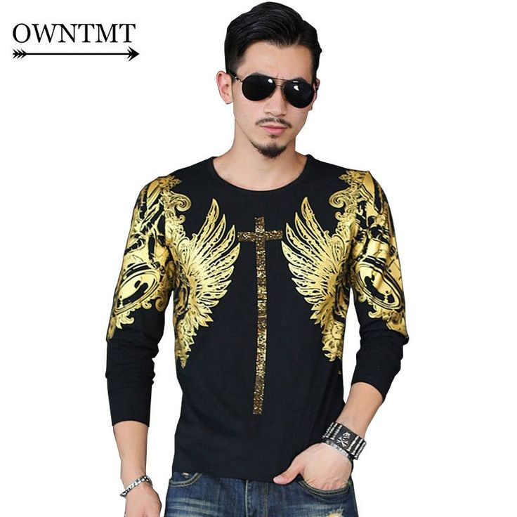 2017 fashion men O-Neck slim fit T shirt hip hop style men's spring clothing tops male Wings Bronzing long-sleeved Brand t-shirt https://satyrsgifts.com/products/2017-fashion-men-o-neck-slim-fit-t-shirt-hip-hop-style-mens-spring-clothing-tops-male-wings-b