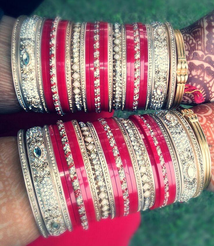Indian bride's bangles