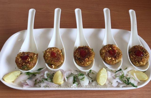Shobha's Food Mazaa: AKHROT KE KABAB / WALNUT CUTLETS