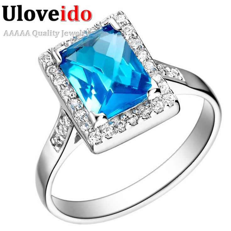 Find More Rings Information about Promotion Silver 925 Finger Lovers Ring Women Square Zircon Exaggerated 925 Platinum Simulated Sapphire Blue Rhinestone J073,High Quality ring cavity,China ring bamboo Suppliers, Cheap rhinestone eyebrow rings from ULOVE Fashion Jewelry on Aliexpress.com