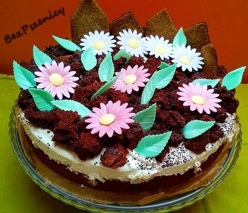 """Bez Pszenicy: Żytni tort """"ogródek"""""""