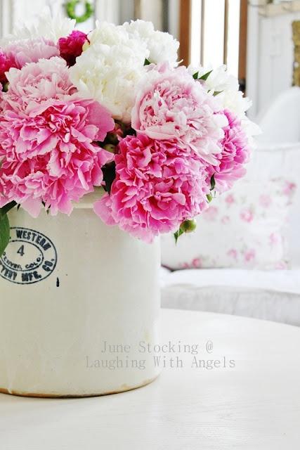 Pink peonies: Does 3 Peonies, Flowers Arrangements, Peonies Laughing, Flowers Power, Beautiful Flowers, Fresh Flowers, Angels, Doe 3 Peonies, Pink Peonies
