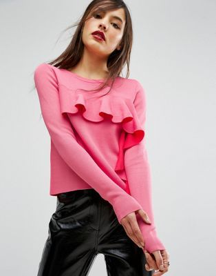 ASOS Jumper with Ruffle Front