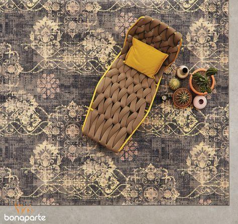 Bonaparte Vintage vloerkleed of #tapijt. Met accent kleur : oker-geel