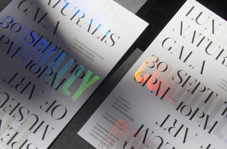 Graphic & Print Design: Lux Naturalis Gala Invitation