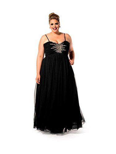 Fashion bug women 39 s plus size starburst evening dress www for Plus size wedding dresses okc