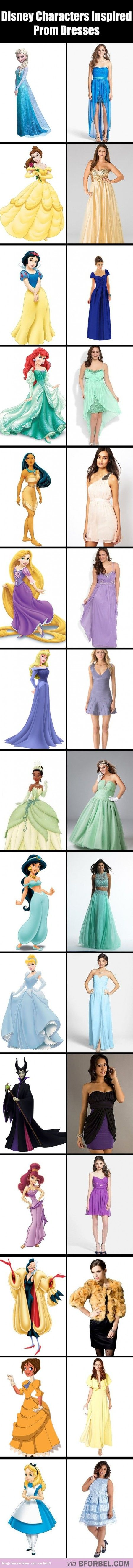 15 Prom Dresses Inspired By Disney Characters…