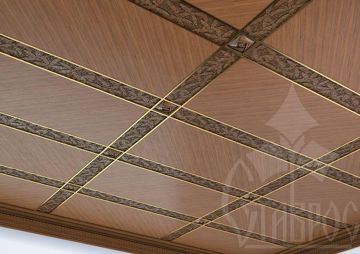 Использование рельефной фактуры F-009 в декорирование потолка