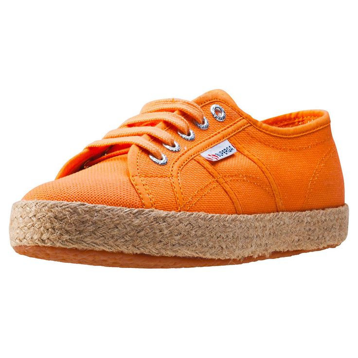 Superga 2750 Rope Womens Trainers Orange Shoes