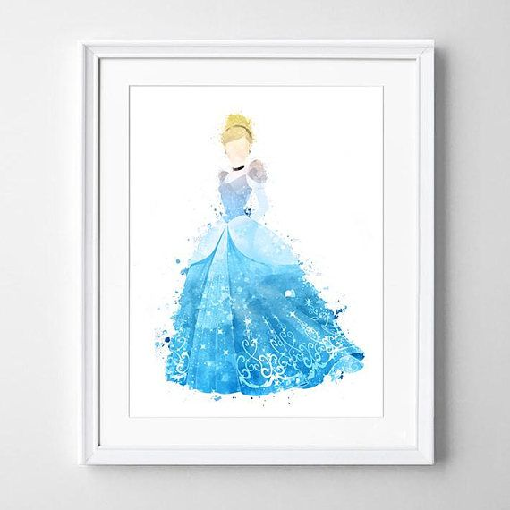 Original Water Colour Illustration Of Cinderella Available In