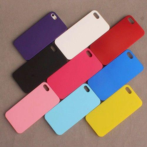 Para apple iphone 5 ultra-delgada de matorral cáscara del teléfono frosted plástico cubierta de la caja dura mate para el iphone 5s 6 plus de protección Shell