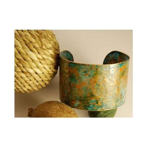 Speak Out Loud | Rustic Brass Cuff | Online Store Powered by Storenvy via Polyvore