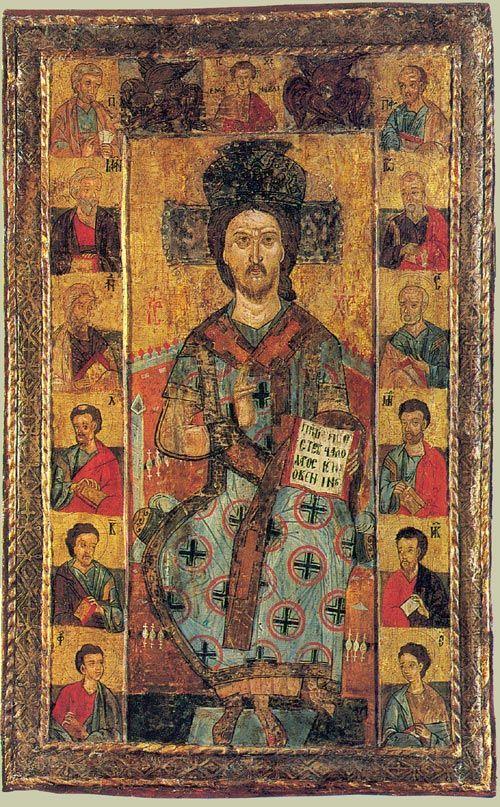 Христос Великий Архиерей Румыния. Около 1600 г. Дерево, левкас, темпера. Размер - 74 х 45 см. www.simvol-veri.ru