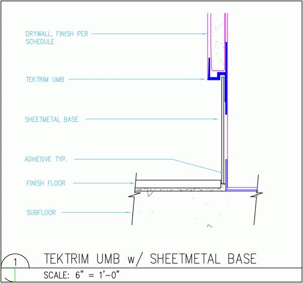 Recessed Wall Base Tektrim Interior Details