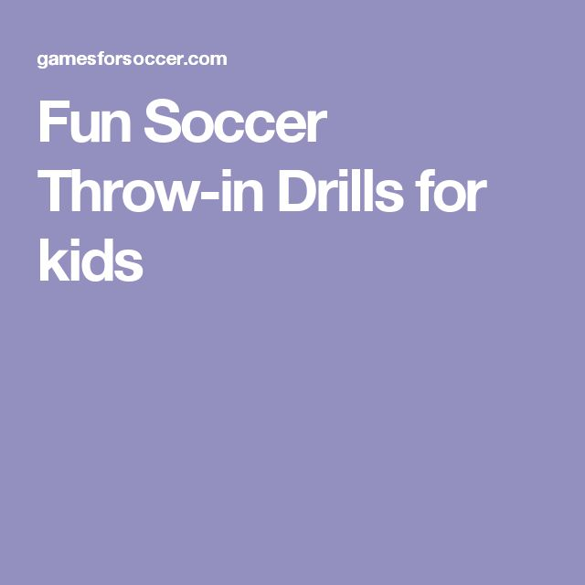 Fun Soccer Throw-in Drills for kids