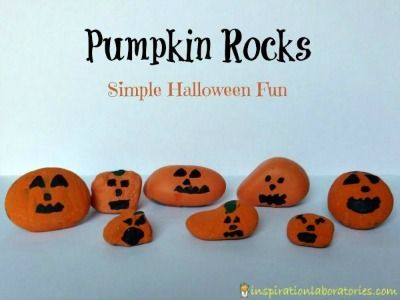 Halloween is right around the corner, so if you want some spooky and fun crafts for the month of October, we thought these Pumpkin Rocks are a great place to start!