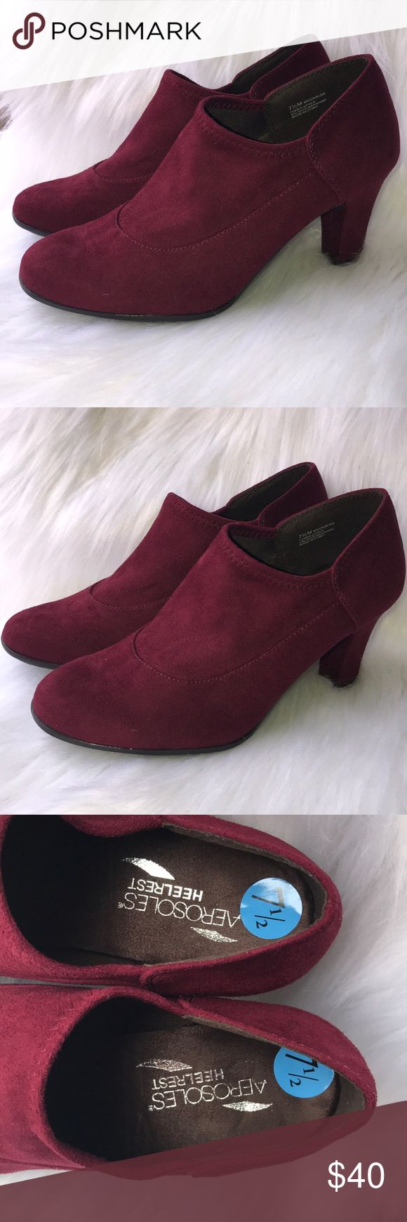 Woman's red velvet ankle boots These r new woman's red velvet ankle boots size 7.5 also available in size 9 AEROSOLES Shoes Ankle Boots & Booties