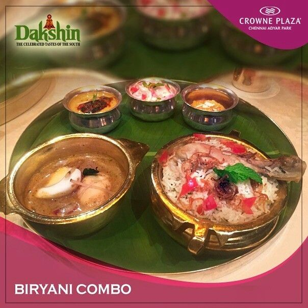 Relive the taste of the authentic biryani your grandmother used to make... Relive the cultural heritage of south india at #Dakshin #CrownePlazaChennai #Adyar Park
