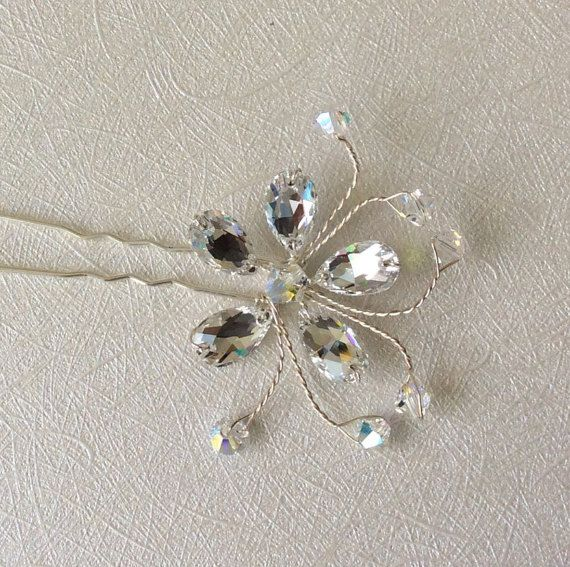 Bridal Hairpin Wedding Hairpin Bridal by glamourbysonja on Etsy