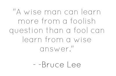 """""""A wise man.."""" quote by Bruce Lee"""