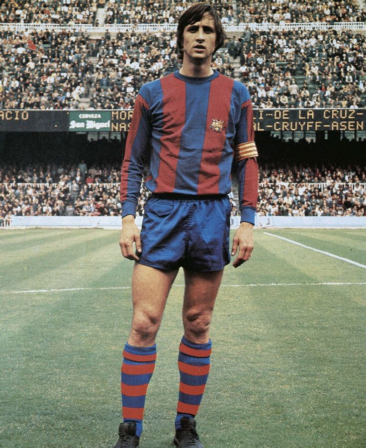 Hendrik Johannes Cruijff, born 25/4/47, Amsterdam), known Johan Cruyff, former Dutch footballer. Won the Ballon d'Or three times: 71, 73, 74, record jointly held with Michel Platini, Marco van Basten and Lionel Messi until Messi won his 4th award in 2012. Cruyff was one of the most famous exponents of the football philosophy known as Total Football explored by Rinus Michels, and is widely regarded as one of the greatest players in association football.