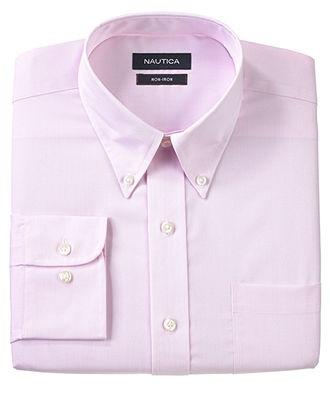 Nautica Dress Shirt, Pink Fineline Striped Long Sleeve Shirt - Mens Dress Shirts - Macy's