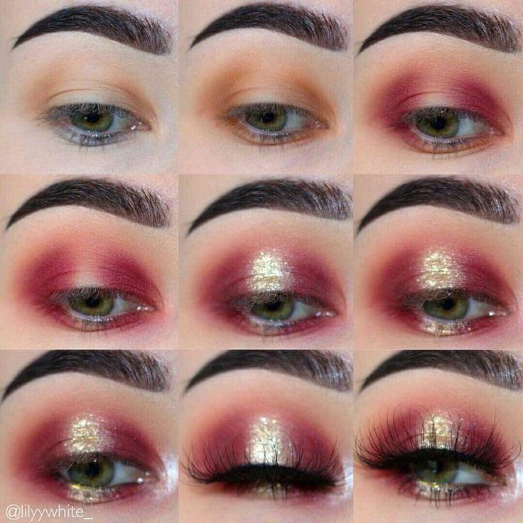 Pin by Kari Hampton on Eye makeup | Eye makeup steps, Red ...