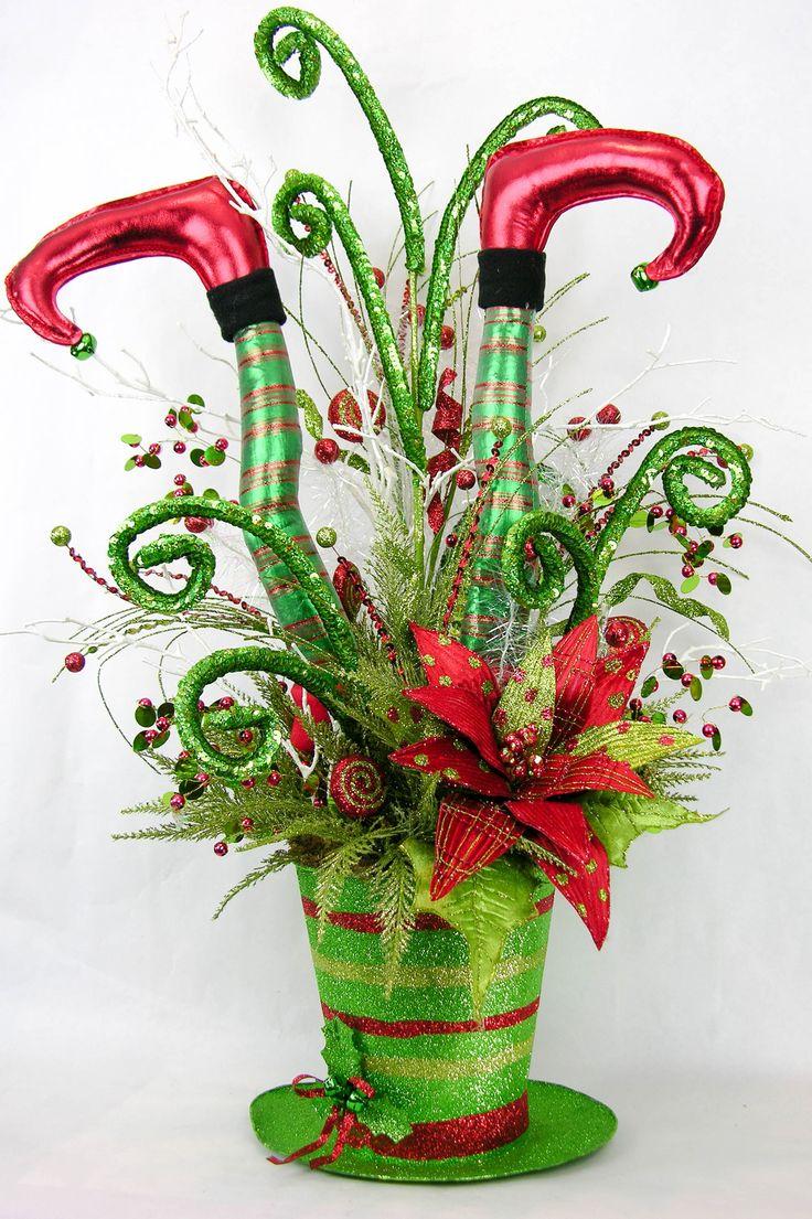 Best christmas centerpiece arrangements images on