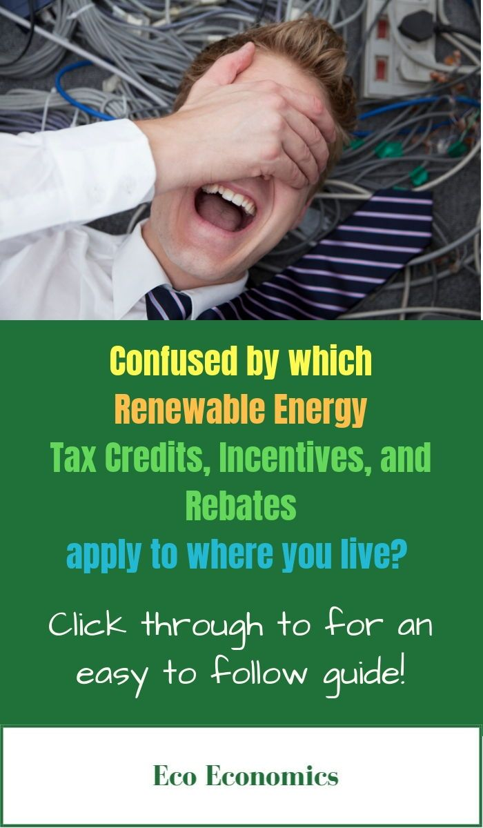 Renewable Energy Incentives Tax Credits And Rebates By Eco Economics This Article Helps You Navigate How To Get The Most From Federal State
