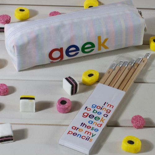 I'm going to be a Geek - Pencil Set