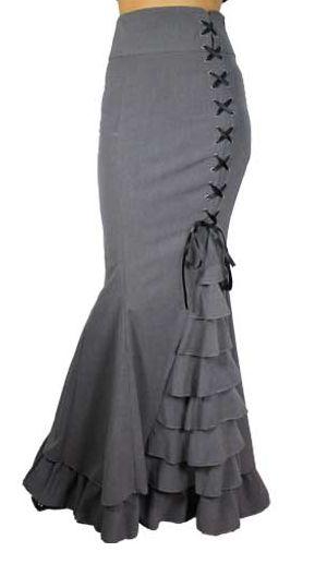 Gray Ruffle Skirt <3                                                                                                                                                     More