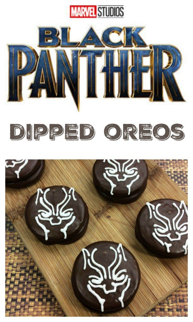 Black Panther Oreos Dipped Cookies Blackpanther Marvel