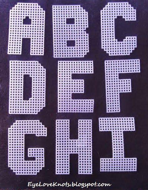 A-I. EyeLoveKnots: Plastic Canvas Alphabet - Sugar Tart Crafts - Pattern REVIEW