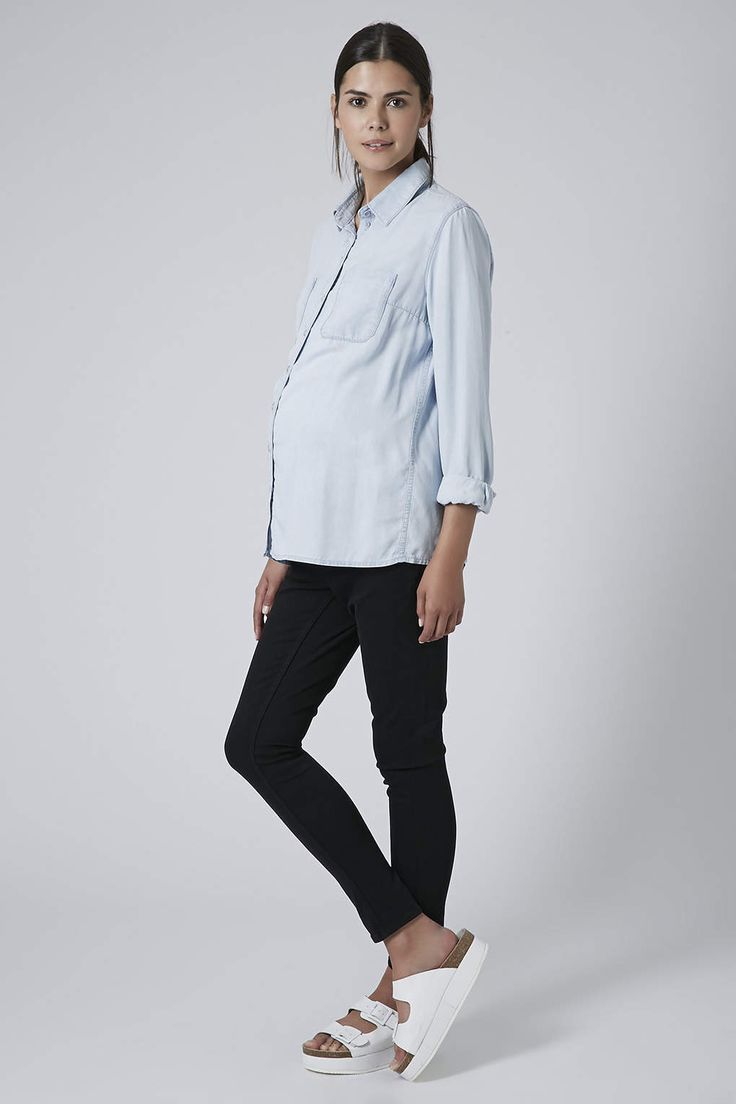 Best Chambray shirts for pregnancy // Topshop