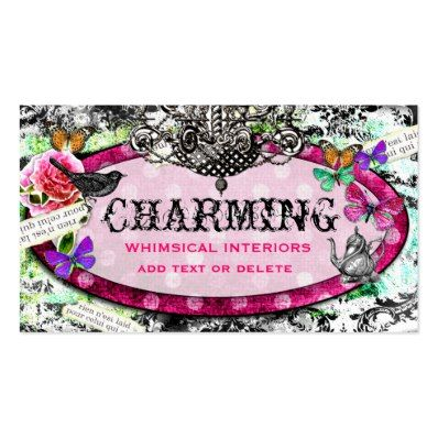 GC Whimsical Vintage Charm Tea Pot Double-Sided Standard Business Cards  Pack Of 100
