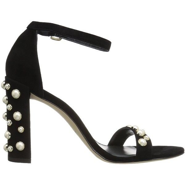 Stuart Weitzman Women's Morepearls Heeled Sandal ($280) ❤ liked on Polyvore featuring shoes and sandals