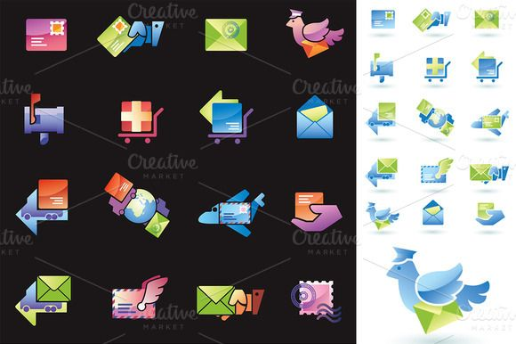 Check out Mail Delivery by LEKS illustrations on Creative Market