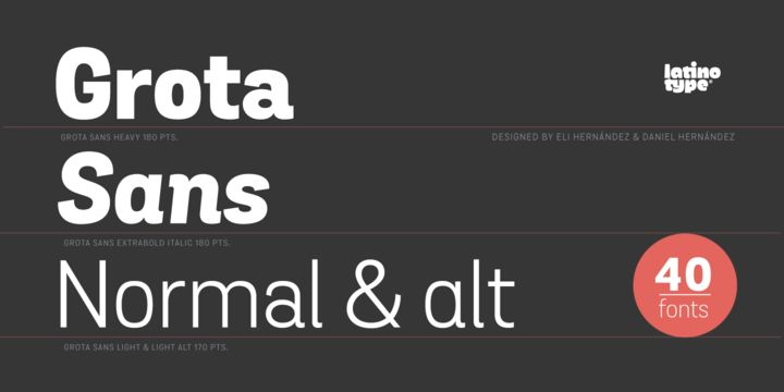 Grota Sans (85% discount, family 24,30€) - http://fontsdiscounts.com/grota-sans-85-discount-family-2430e/