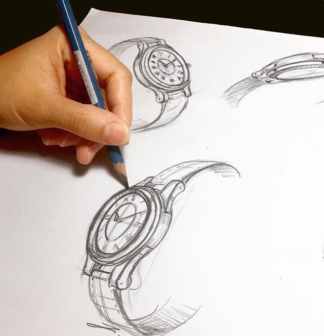 We love to sketch from our imagination. It is the foundation of our timepiece, where our concepts first come to life as an image. #drawing #inspiration