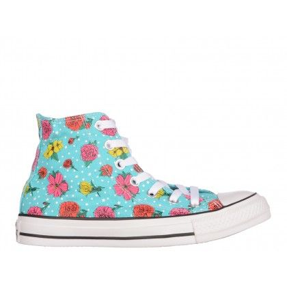 Ghete Converse multicolore, din canvas