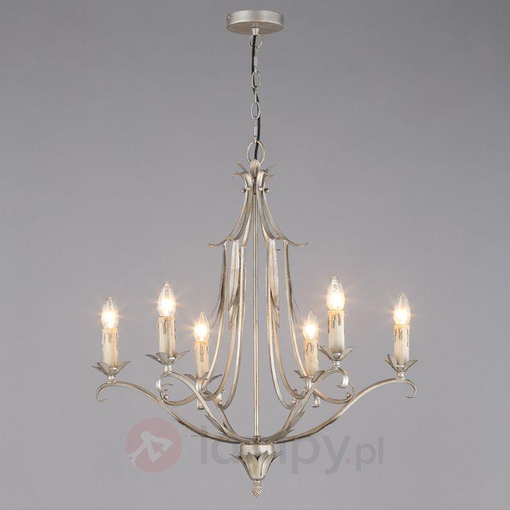 Metalowy żyrandol MALDA o srebrnej powierzchni bezpieczne & wygodne zakupy w sklepie internetowym Lampy.pl.