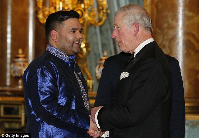 British music star Naughty Boy - aka Shahid Khan - performed for the Prince of Wales and the Duchess of Cornwall at Buckingham Palace last night to celebrate ten years of the British Asian Trust.