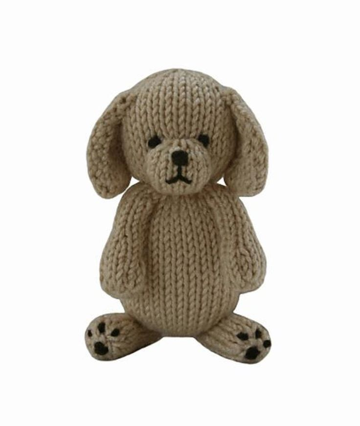 FREE Puppy knitting pattern -  Delightful, adorable, soft and cuddly, the Knitables range of gifts, toys and decorations are fun and easy to knit. The pattern has clear row by row instructions andphotographs to help you along the way. Download for free at LoveKnitting!
