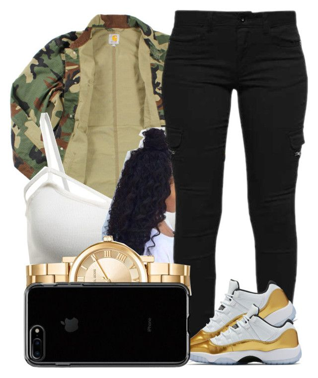 """""""121"""" by jalay ❤ liked on Polyvore featuring Carhartt and Michael Kors"""