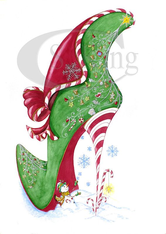 Candy Cane - Rarefootage Shoe Designs