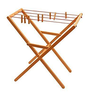 932-2332 Drewart Wäscheständer aus Holz, Erle mass. ökologisches Holzspielzeug