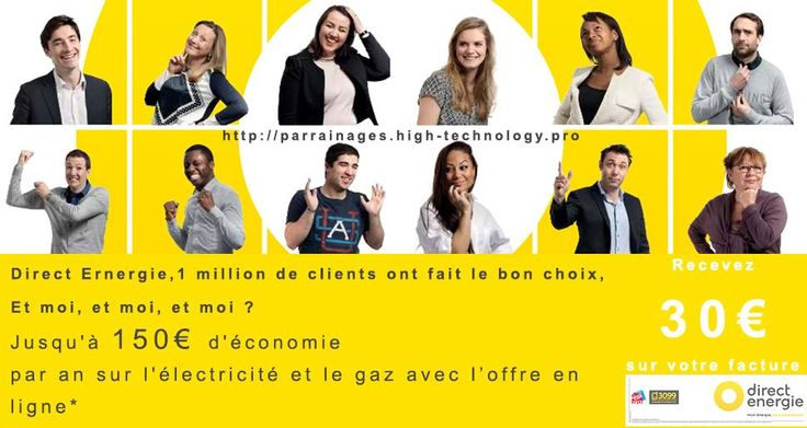 Parrainage Direct Energie : Recevez 30€ en avoir sur votre facture !