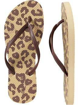 $3, a little high, but who doesn't want cheetah flip-flops??  Women's Printed Flip-Flops | Old Navy
