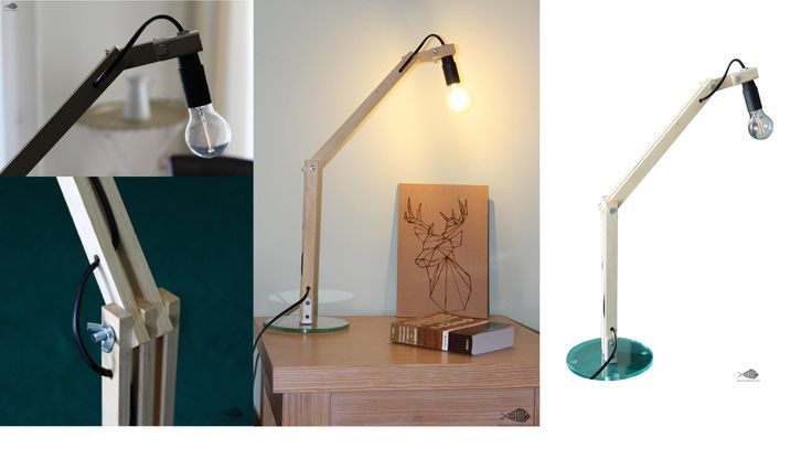 Lampada da tavolo in legno e vetro riciclato. #lampada #lamp #legno #wood #vetro #glass #design #riciclo #recycled #riciclostile @riciclostile