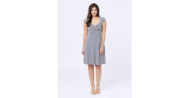 Review Australia - Brady Stripe Dress Navy/cream